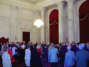 Senate Halls Filled with Song