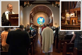 Eucharistic Service that was held at Trinity Episcopal Cathedral.