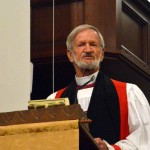 The homily for the opening worship service was delivered b y the Episcopal Bishop of Navajo Land, David Bailey.