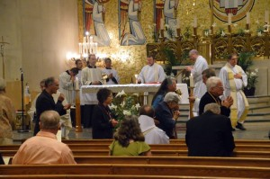 Tuesday Evening, Workshop participants took part in a Catholic Holy Eucharistic Service, at the Church of the Immaculate Conception.