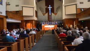 The Wednesday evening Eucharist was celebrated at the First United Methodist Church.